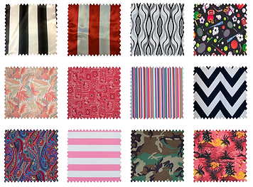 Chevron, Stripe, and Other Print Fabric for Table Linens