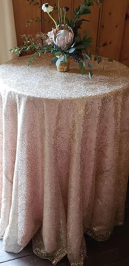 Sheer Sequins Champagne Overlay_Burgundy
