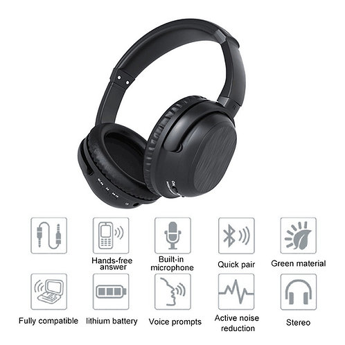Wireless Lithium-Powered Over-Ear Noise Cancelling Headphones