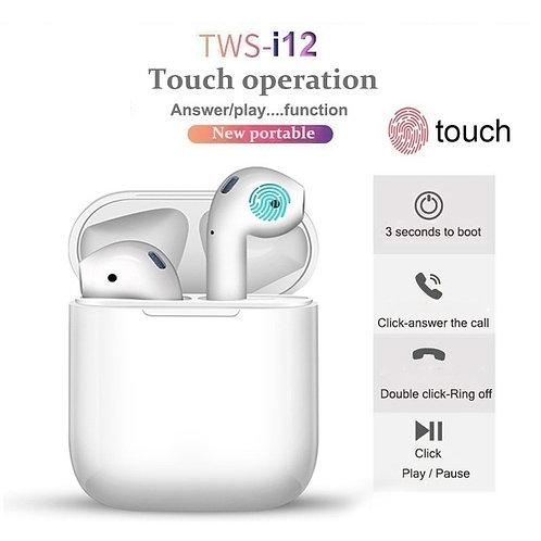 i12 TWS Bluetooth 5.0 Headphone Sports Sweatproof True Wireless Touch Earphones