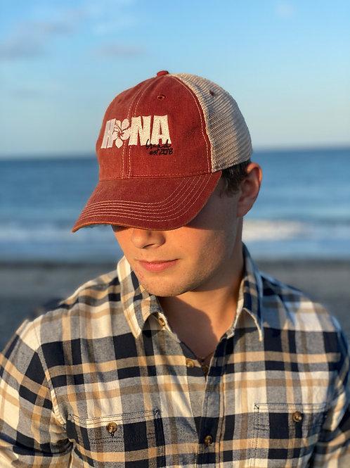 Red Kona Trucker Cap