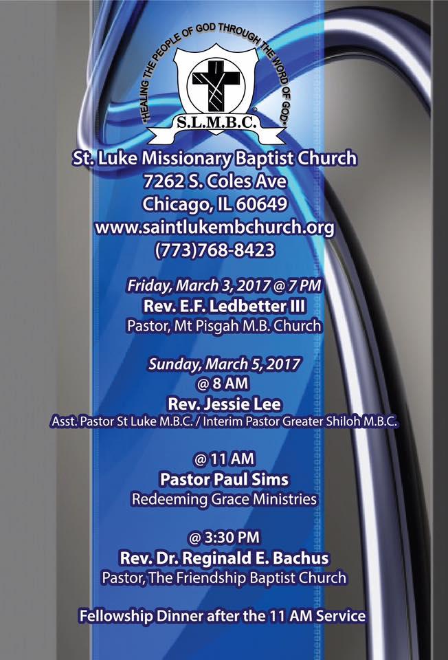 Pastor aniversary 12 schedule