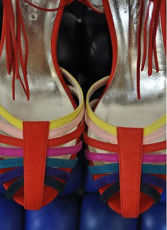 Cabeceo Mina rouge sandales Talon confor