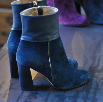 Boots Lili pétrole