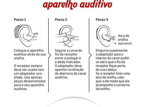 Como Colocar seu aparelho auditivo receptor-no-canal