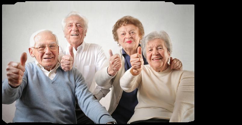 Amigos idosos sonora
