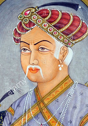 akbar-mughul-emperor-miniature-painting-