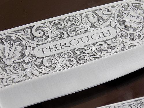 Handgraverad kökskniv (Hand engraved kitchen knife)