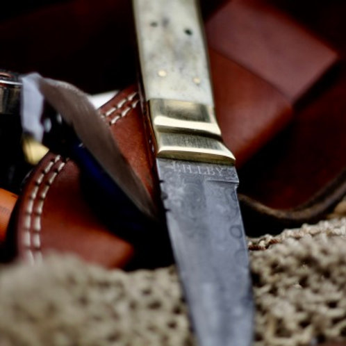 Damaskuskniv Kamelbenshandtag