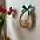Thumbnail: Slaměné dekorace do bytu - věneček s vajíčky a slzy s labutí