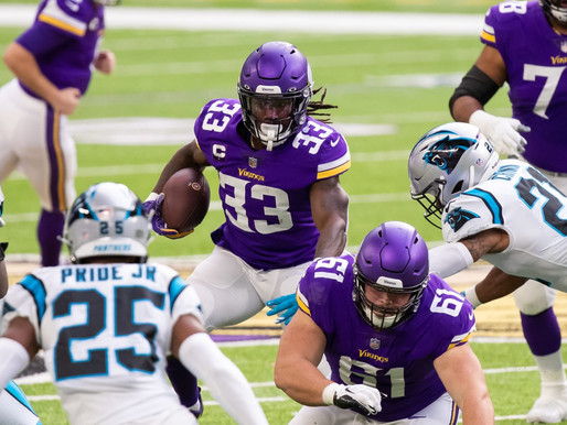Vikings Score 18 in Fourth Quarter, Beat Panthers 28-27