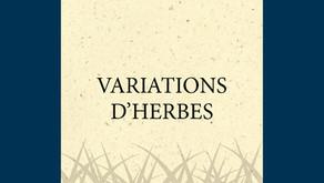 """Note de lecture de """"Variations d'herbes"""" par Angèle Paoli"""