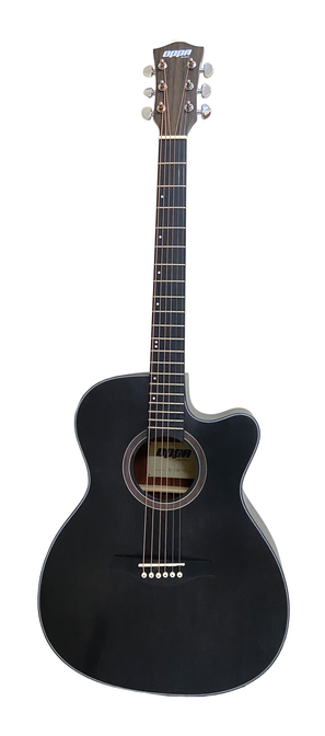 OPPA OP-130-TBK JF桶身黑色刷漆木吉他