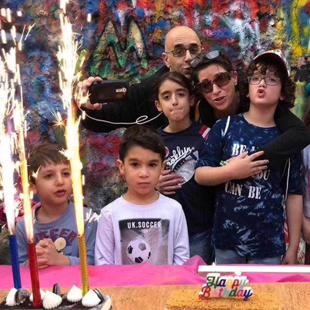 Graffiti hunt birthday party for Ari 💥?
