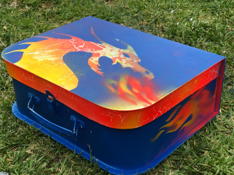 Fire dragon using stencils