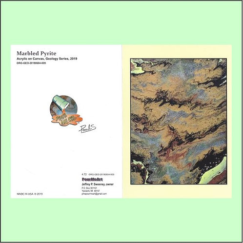 Marbled Pyrite - Greeting Card