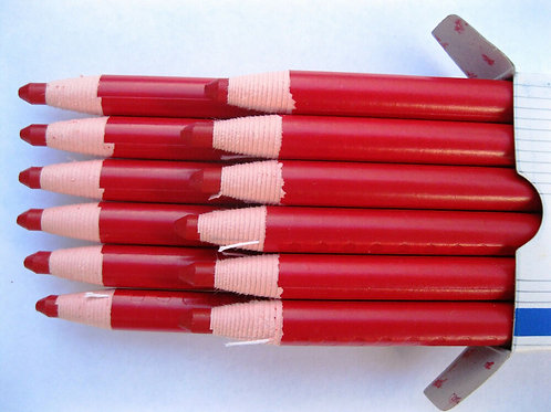 Red Marking Pencil with String - One Dozen