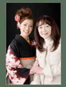 卒業 袴 成人記念 親子写真
