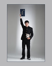 新潟市 中学校入学 記念写真