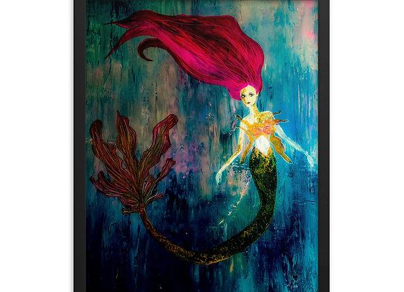 Framed Mermaid Poster Print
