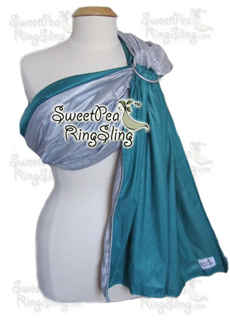 Silver/Turquoise Water Sling