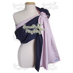Navy Blue/Pink Linen
