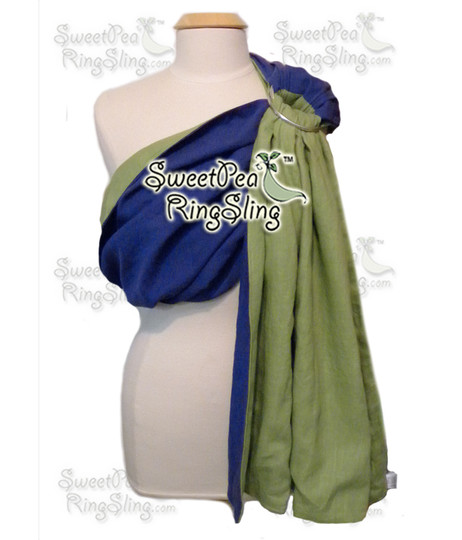 Royal Blue/Grass Green Linen