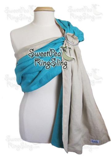 Turquoise/Khaki Linen