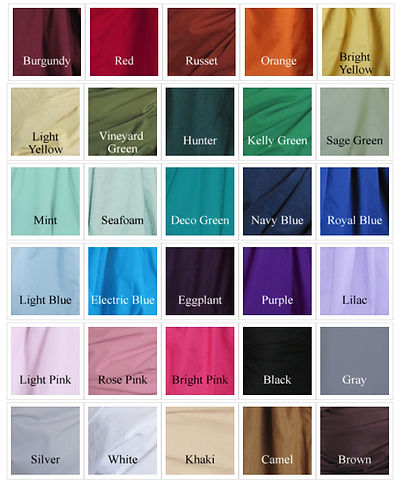Available Cotton Colors