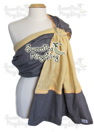 Gray/Yellow Linen w Added Pocket (custom colors)