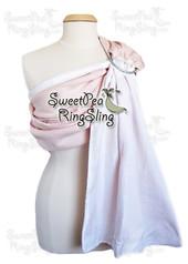 Pink/White Linen