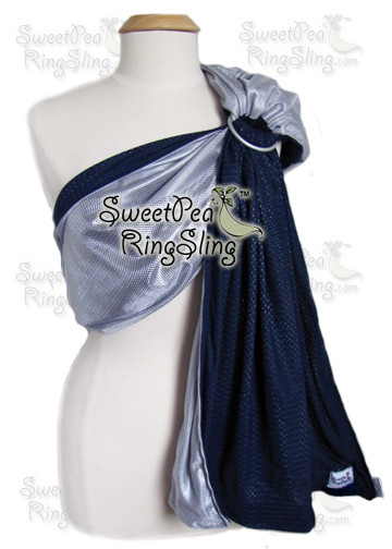 Silver/Navy Water Sling