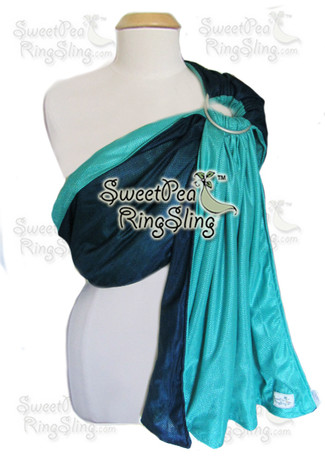 Navy/Turquoise Water Sling
