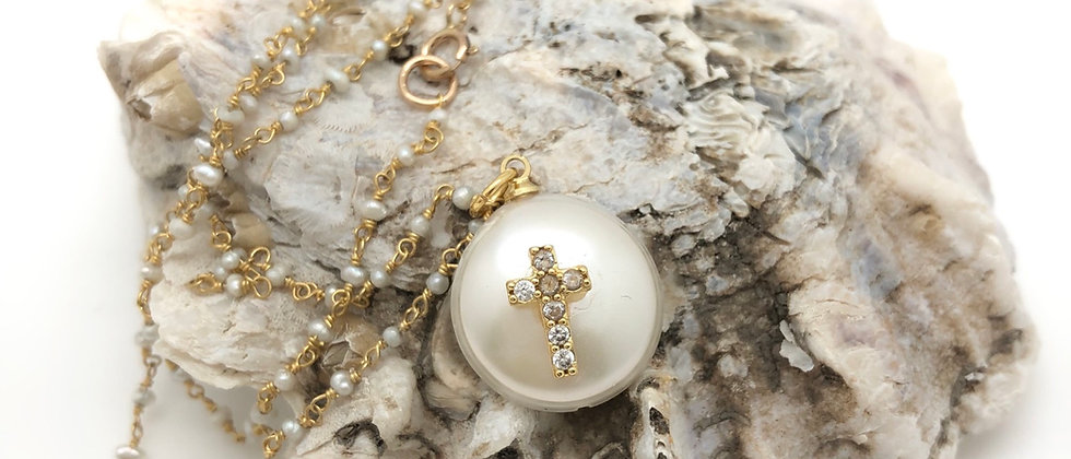 Cross on Pearl