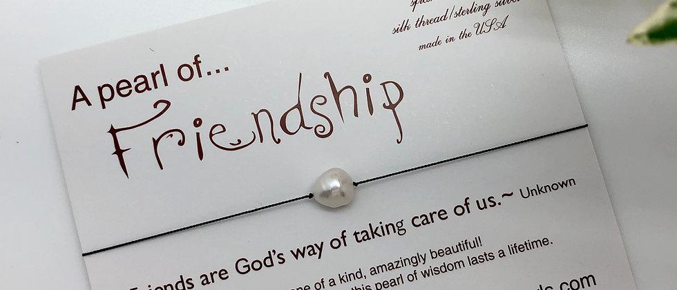 FRIENDSHIP Pearl on Silk