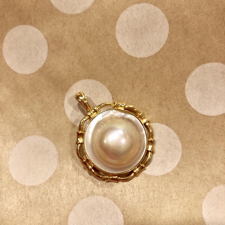 Mabe Pearl Enhancer 14K gold