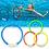 Thumbnail: 4Pcs/Set  Swimming Pool Dive Game Rings