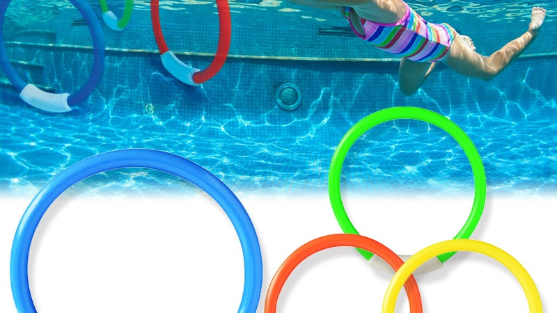 4Pcs/Set  Swimming Pool Dive Game Rings