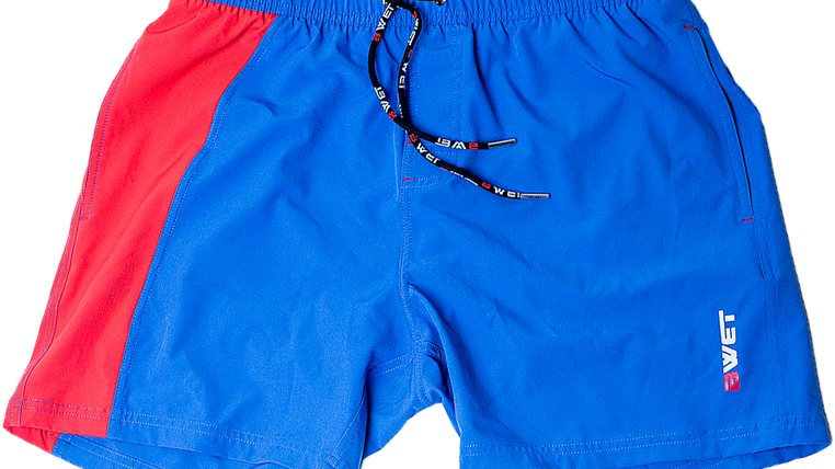 "Quick Dry UV Protection Blue Beach Shorts ""LALU"""