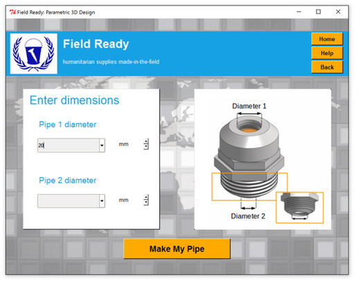 First Test of Pipe Fitting App for 3D Printing Means Safe Water Pipe Fittings in Nepal