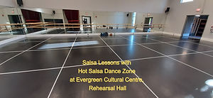 Salsa Lessons at Evergreen Cultural Centre Coquitlam, Rehearsal Hall