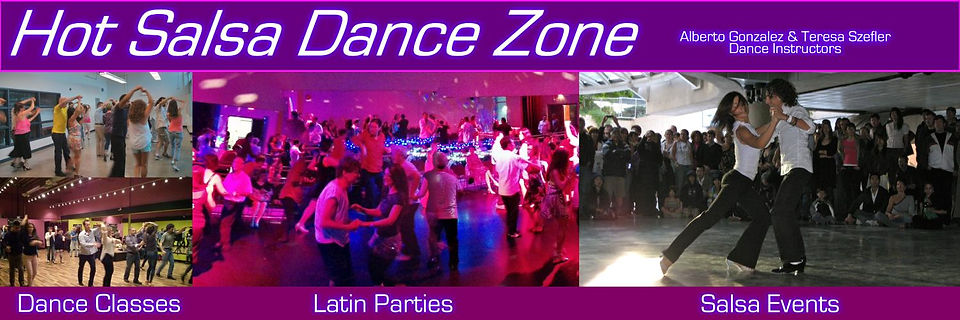 Salsa & Latin dance lessons & events in Vancouver, Coquitlam, Surrey & the Lower Mainland with Alberto & Teresa of Hot Salsa Dance Zone