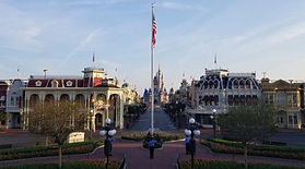 Walt disney world flag raising empty par