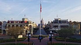 Walt disney world flag raising empty par