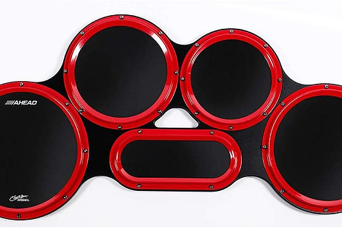 AHEAD CHAVEZ ARSENAL TENOR PAD WITH BLACK GUM RUBBER AND RED S-HOOPS