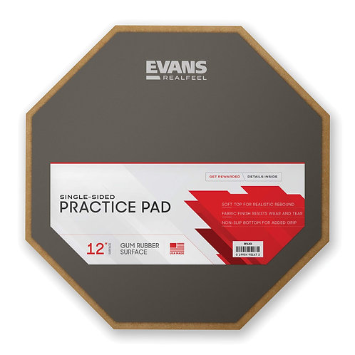 RealFeel by Evans Practice Pad, 12 Inch Single Sided