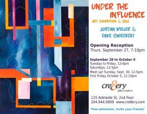 Under the Influence Exhibition by Jordan Miller + Dave Swiecicki