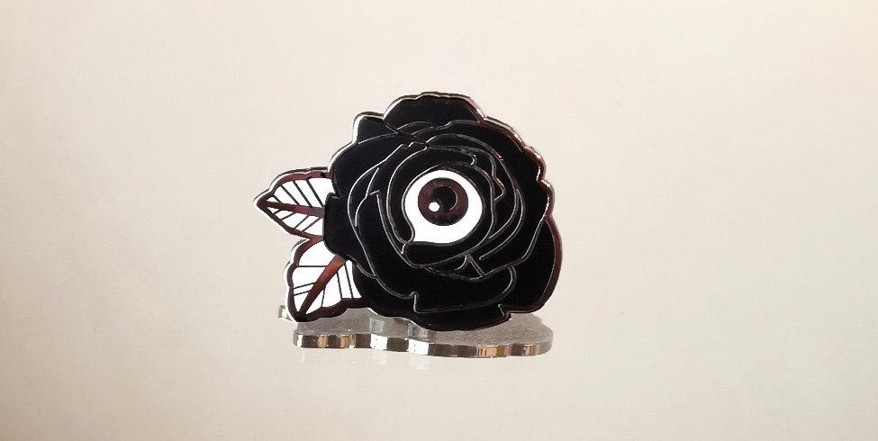 Cyclops Rose Enamel Pin