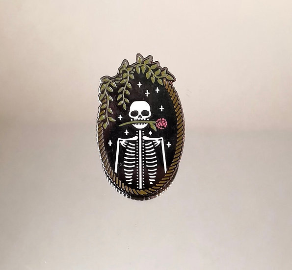 Love You to Death Enamel Pin