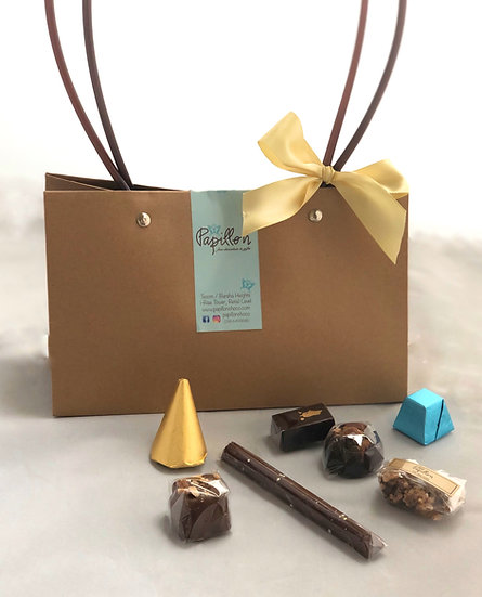 Brown Gift Bag of chocolate